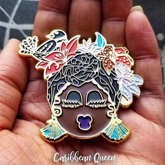 NEW! Caribbean Queen Pin just added. 💜 SHOP ARIMAS.CO