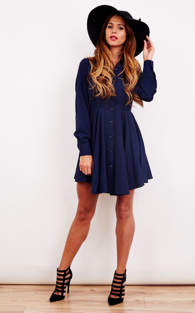 A staple piece for your wardrobe. Dressed up or down, this cute shirt dress will look great for any occasion.