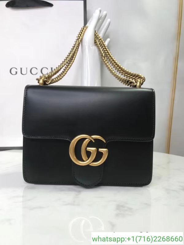2248b98306f0 Gucci GG Marmont Calfskin Leather Shoulder Bag 431384