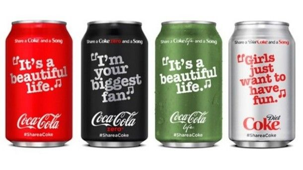 The Share a Coke and a Song campaign has a collection of more than 70 song lyrics