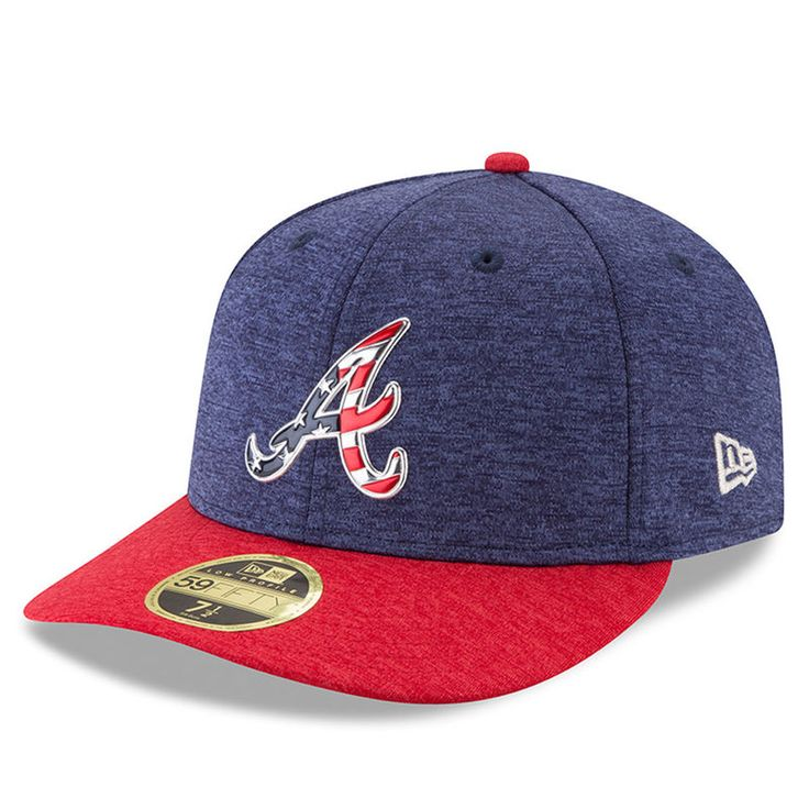 Atlanta Braves New Era 2017 Stars & Stripes Low Profile 59FIFTY Fitted Hat - Heathered Navy/Heathered Red