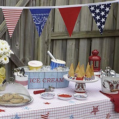 Red White and Blue!: Holiday, Parties, July Party, Ice Cream, 4Th Of July, July 4Th, Red White, Party Ideas