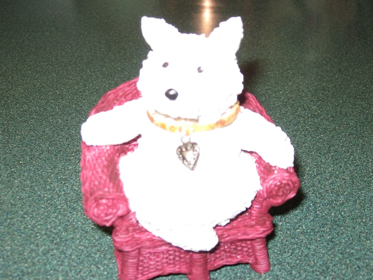 Lounging Westie by Barb.  Made with Sculpy.