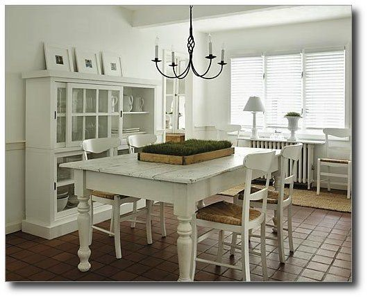 white farmhouse table from next level design in - Kitchen Tables Canada