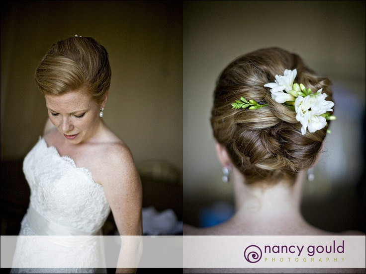 pretty wedding soft up-do hairstyle