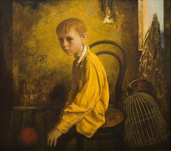 """""""The Corner"""" by Igor Melnikov, 2011. // son las búsquedas por emular a través de retratos, estos brincos de las emociones humanas que viajan a través de una iconografía de la fragilidad. // arte contemporáneo, pintura, óleos, contemporary art, artwork, oil painting."""