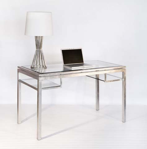 office glass tables. Worlds Away Silver And Beveled Glass Desk - Traditional Desks By Candelabra Office Tables