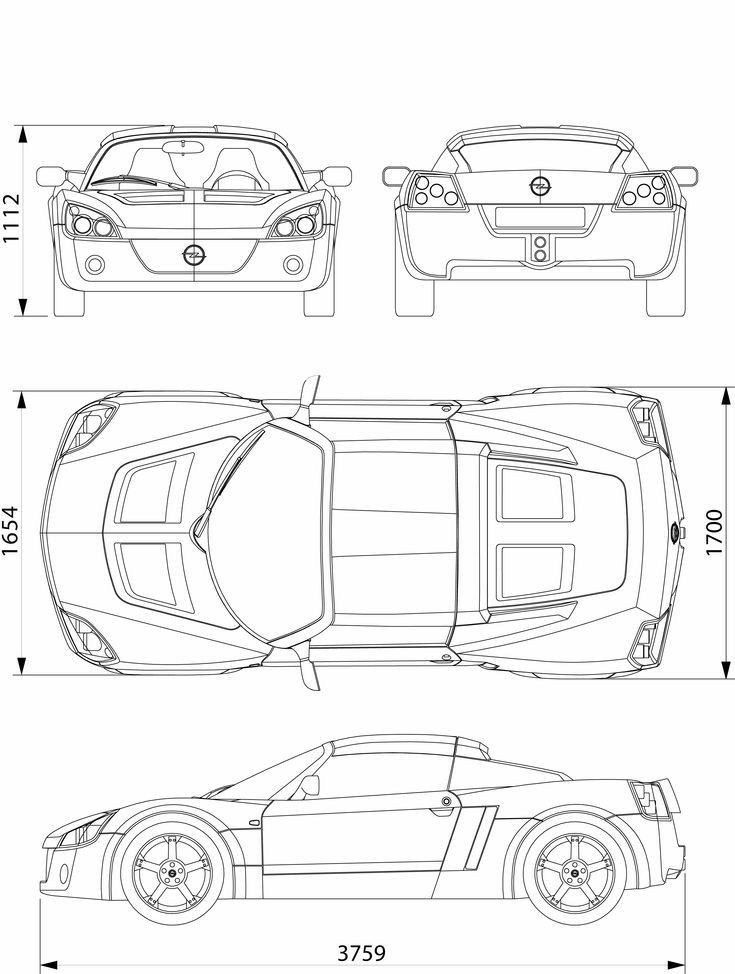 Pin Na Nastence Car Blueprint