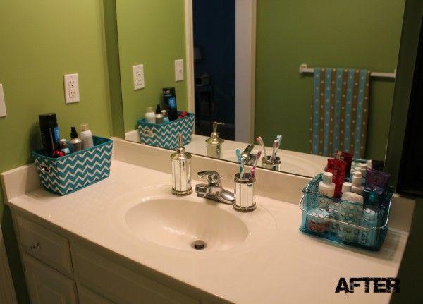 Organizing A Teenage Girl's Bathroom #organization