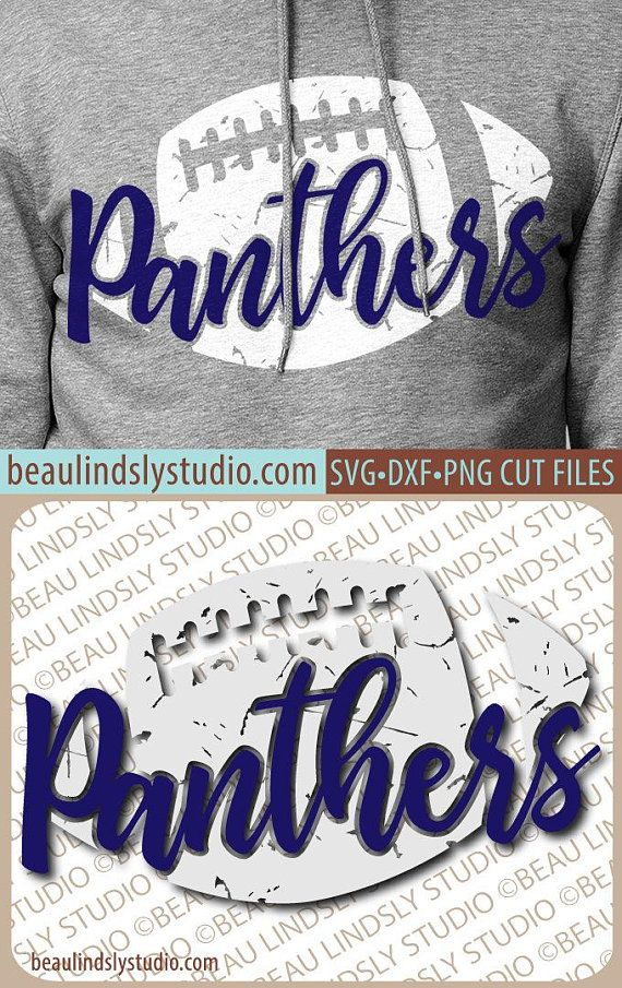 Distressed Panthers Football SVG File 37f5f0789