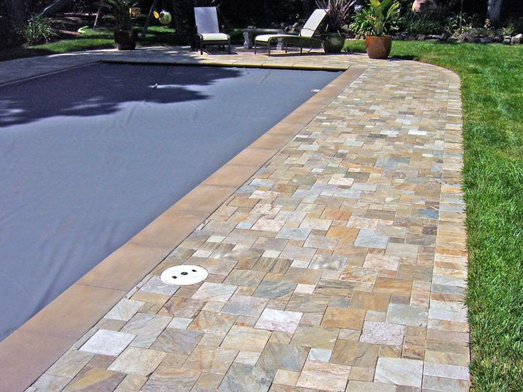 1000 images about pool coping styles on pinterest for Best pavers for pool deck