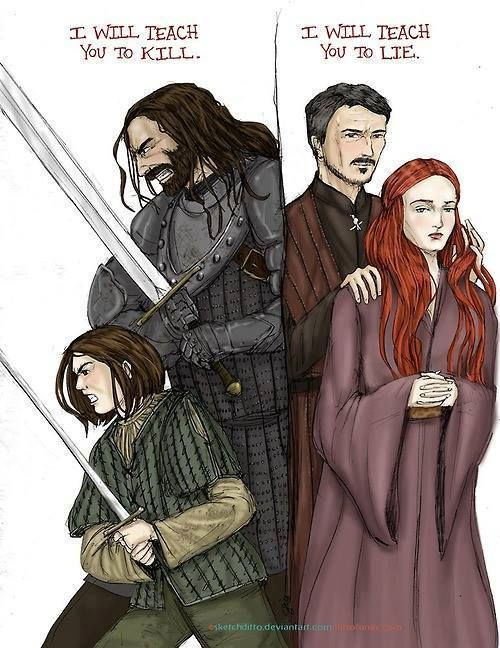 The Stark girls learning the hard lessons of life, but in different ways.