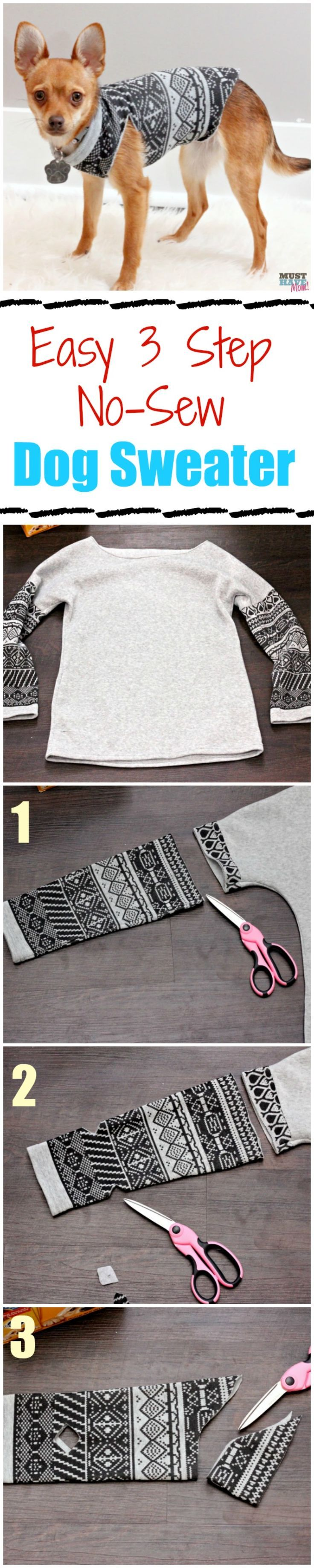 Make A DIY Dog Sweater From A Sweatshirt + Doggie Travel Tips!