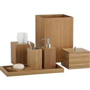 Bamboo bathroom accessories
