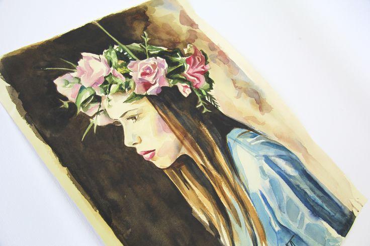 The portrait for Yana Watercolour