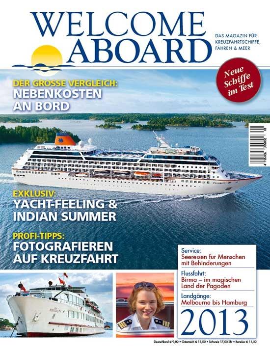 Von den Wunderkindern empfohlen: Welcome Aboard, das Magazin für Kreuzfahrtschiffe, Fähren & Meer