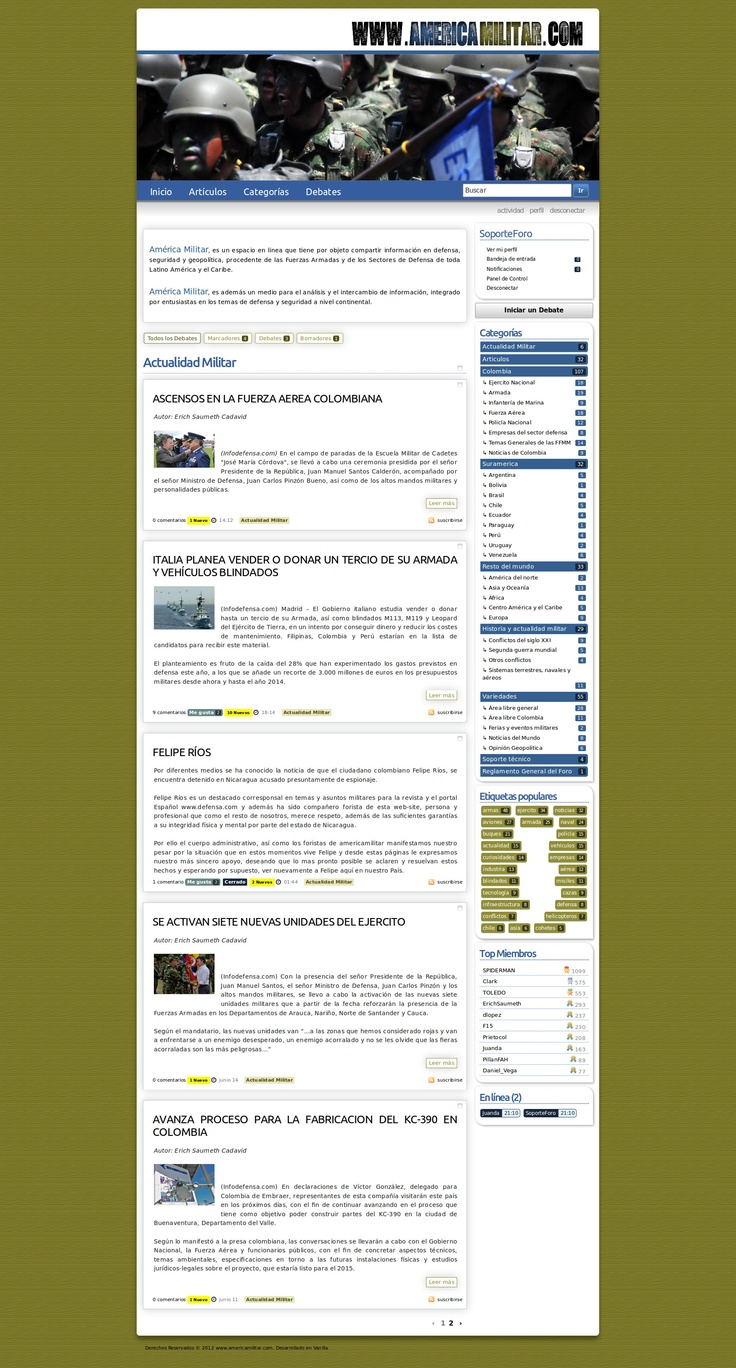América Militar - an online forum for enthusiasts of the military forces. Powered by Vanillaforum. http://americamilitar.com