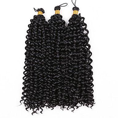Curly Braids Hair Braid Crochet Curly 100% Kanekalon Hair Black Black/Strawberry Blonde Black/Medium Auburn Black/Burgundy Medium Brown – USD $ 13.99