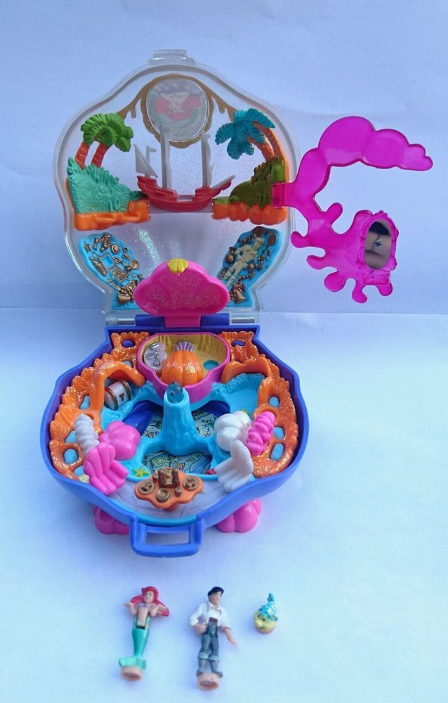 Polly Pocket - La Petite Sirène Disney - Avec Ariel Eric et Polochon VINTAGE  | eBay