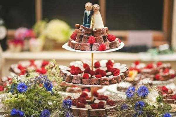brownies as wedding cake alternative