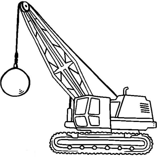Construction Wrecking Ball Tractor For Construction Work