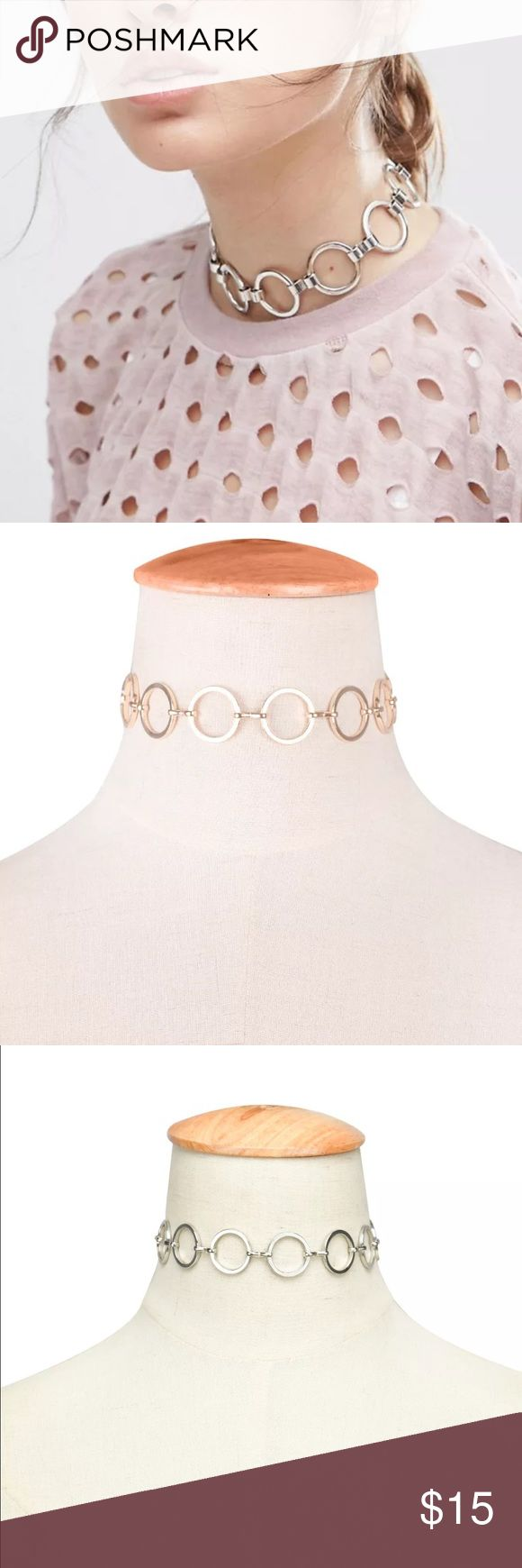 New✨ Circle Chain Link Choker 😍✨ ✨Fashion Jewelry ✨Alloy, Gold Plated, Silver Plated   🔸Brand New✨ 🔸PRICE IS FIRM- already listed at lowest price  🔸If you want to save please look into bundling  🔸In Stock 🔸No Trades 🔸Will ship within 24 hours Monday-Friday  🚫Please -NO- Offers on items priced $10 and under AND ON SALE ITEMS‼️  🚫Serious Inquiries Only❣️  🔹Bundle one or more items from my boutique to only pay one shipping fee✨ Jewelry Necklaces