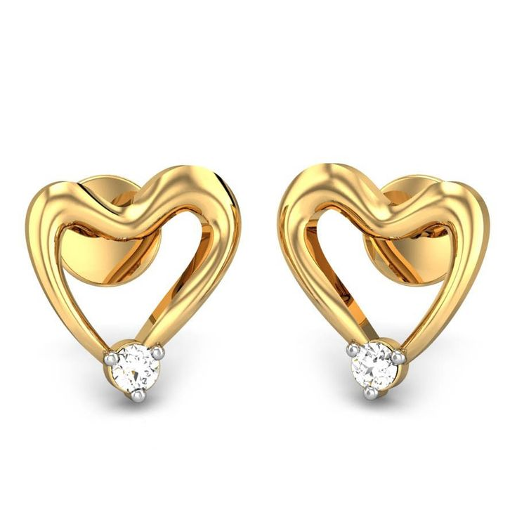Cheerful Heart Stud Earrings