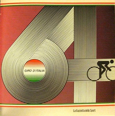 poster for Giro d'Italia (the Italian version of Tour de France).