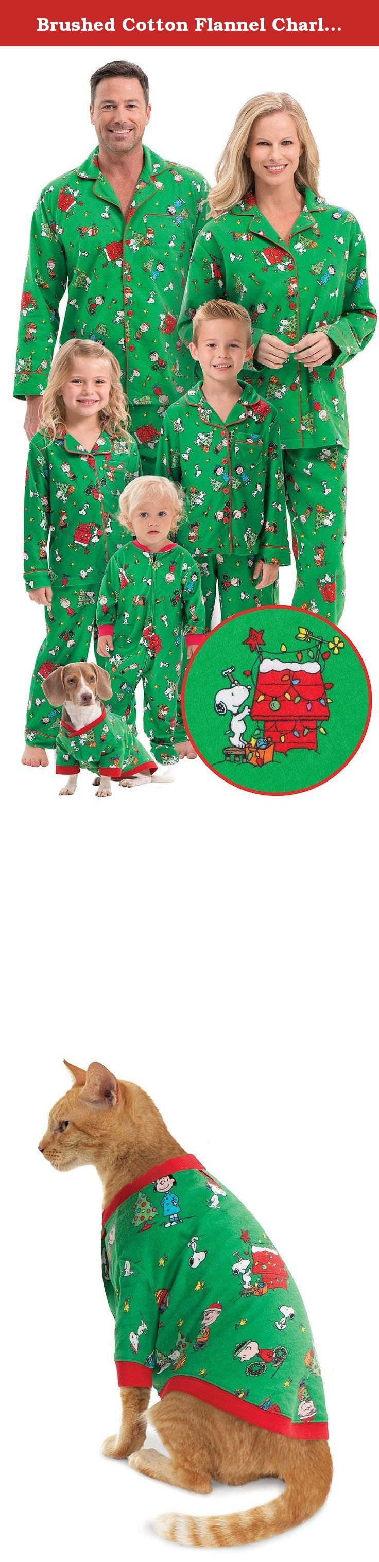 Brushed Cotton Flannel Charlie Brown Matching Christmas Pajamas for the Whole Family, Womens Small (4-6). Make it a Charlie Brown Christmas with these matching family pajamas. Party with the Peanuts gang this Christmas! Charlie Brown, Lucy, Linus, Snoopythey're all decking the halls on these super fun, super comfortable PJs made of our high-quality, flannel fabric that's woven and double brushed to keep its color and get softer wash after wash. Adults, boys, and girls feature full-length...
