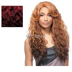 Empress Lace Front Edge Isabel (U-Part) - Color DX4799 - Synthetic (Curling Iron Safe) Invisible U-Part Lace Front Wig - Invisible U-Part