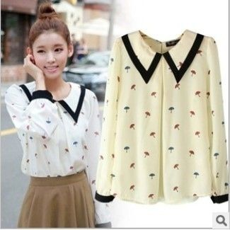 Umbrella Print Blouse, $15 | This Wholesale Fashion Site Could Be The Answer To Your Wardrobe Needs