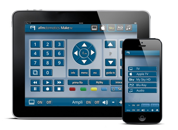 "AFM domotics - We have just released the new user interface of ""Make ht"", the system wich allows you to fully control your entertainment from iPad, iPhone and Android devices."