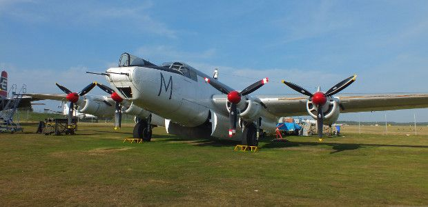 British Cold War Avro Shackleton plane to roar into life at Coventry Airport - http://www.warhistoryonline.com/war-articles/british-cold-war-avro-shackleton-plane-to-roar-into-life-at-coventry-airport.html