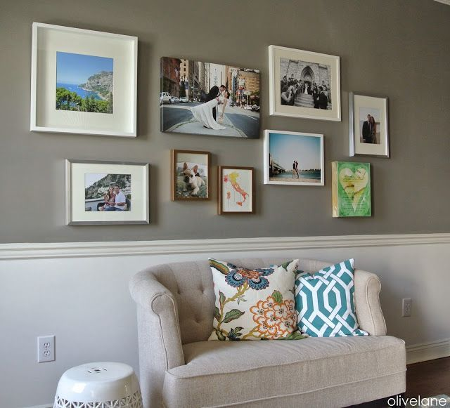 gallery wall above couch – #abovecouch #Couch #Gal…