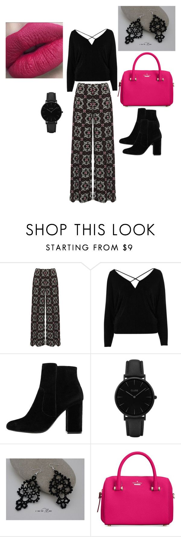 """""""Art Gallery"""" by tamara-jenkins-jackson ❤ liked on Polyvore featuring WearAll, River Island, MANGO, CLUSE and Kate Spade"""