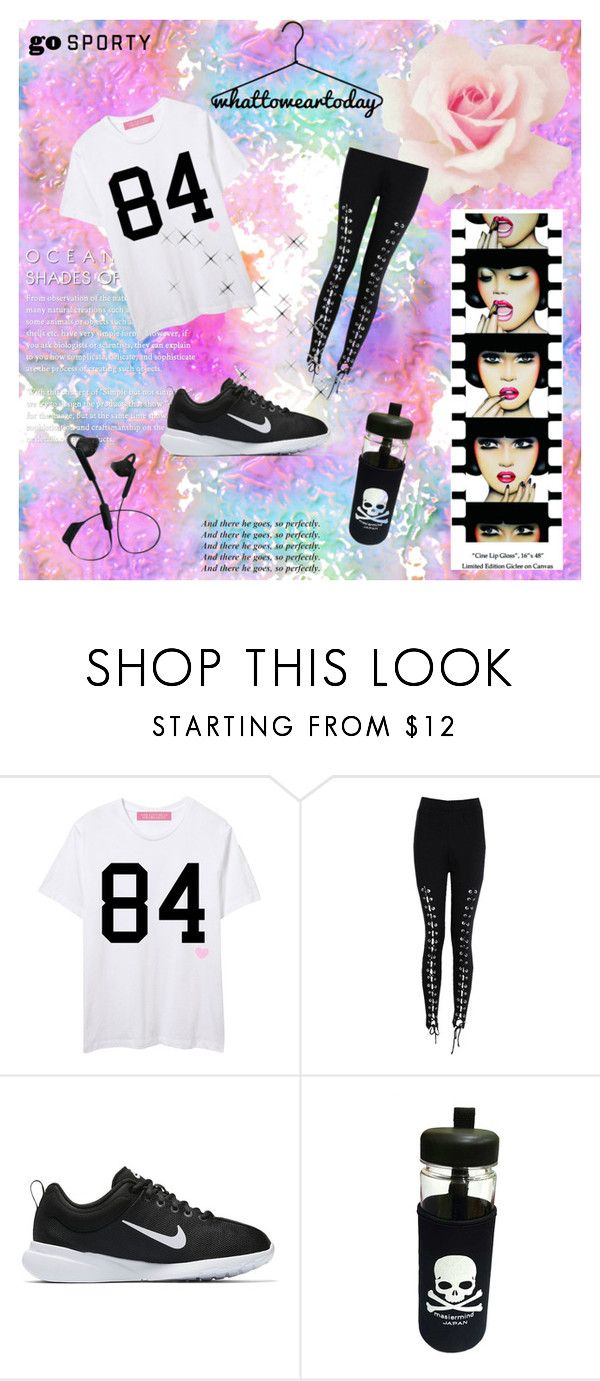 """hell"" by ms-qwe on Polyvore featuring мода, Boohoo, NIKE, Urbanista и Anja"
