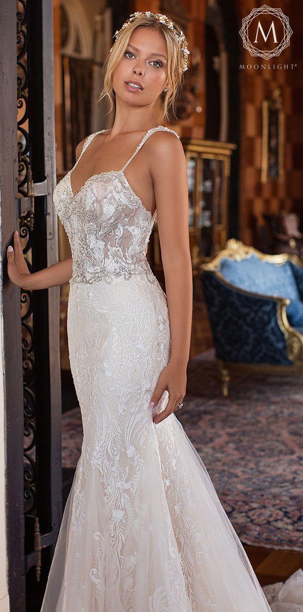 Moonlight Bridal Glamorous Wedding Dresses For 2019 Glamourous Wedding Dress Wedding Dresses Sweetheart Neckline Wedding Dresses
