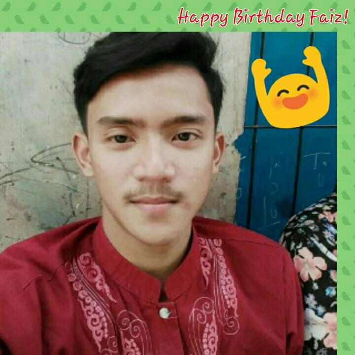**God has made everything beautiful in its time, all you have to do is just to keep your faith on Him. Happy Birthday Faiz
