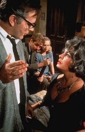 """""""Who's Afraid of Virginia Woolf"""" Elizabeth Taylor 1966 Warner Bros. Absolutely ADORE this script- and the movie is beautiful too"""