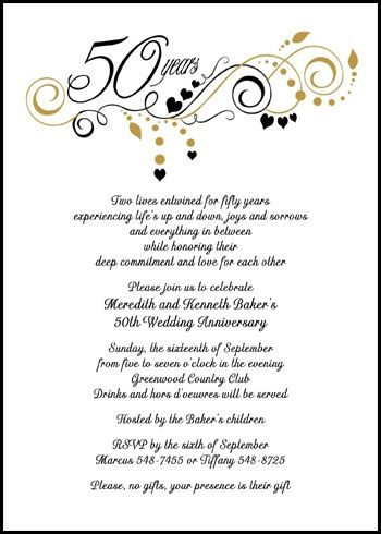 25  best ideas about 50th Anniversary Invitations on Pinterest ...