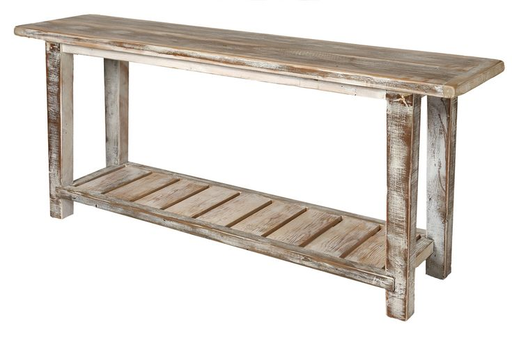 Beachwood furniture recycled oregon limewash hall table for Reclaimed wood furniture oregon