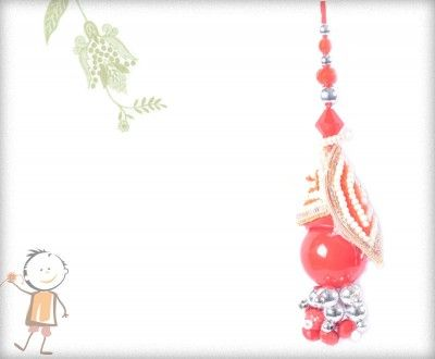 Lumba Rakhi - Send Online #Lumba #Rakhi – online rakhi. BEAUTIFUL PEARL RED LUMBA, surprise  loved ones with roli chawal, chocolates and a greeting card as it is also a part of our package and that too without any extra charges. http://www.bablarakhi.com/