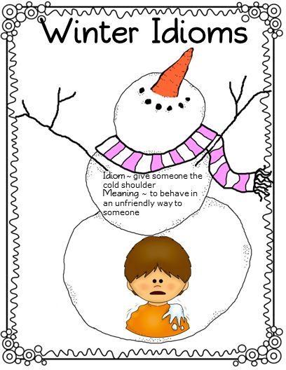"""Free Product"" ~~~ four printable activities that focus on winter figurative language"