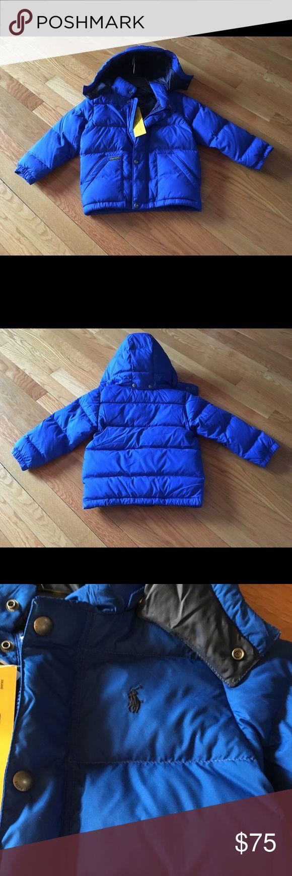 Polo Ralph Lauren Puffer Hood Jacket Coat NWT Size 4/4T