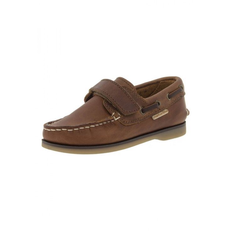 NATURINO 3094 - moccasins with Velcro straps - brown