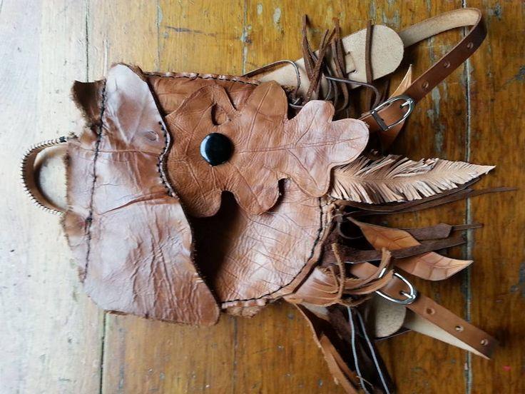 Unique Oak Leaf Fringed & Beaded Backpack by Adele & Nicky