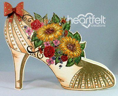 Heartfelt Creations | Fall Floral Shoe Card