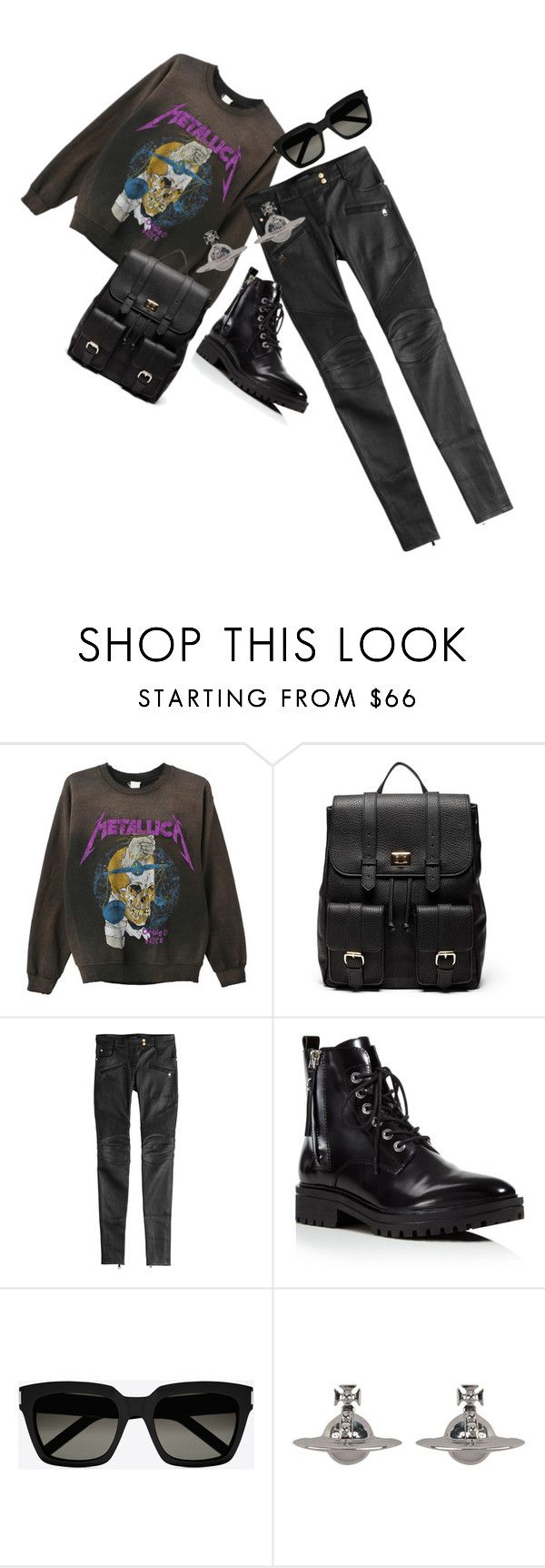 """RocknRolla.."" by evitaom on Polyvore featuring MadeWorn, Sole Society, Balmain, Kendall + Kylie, Yves Saint Laurent and Vivienne Westwood"