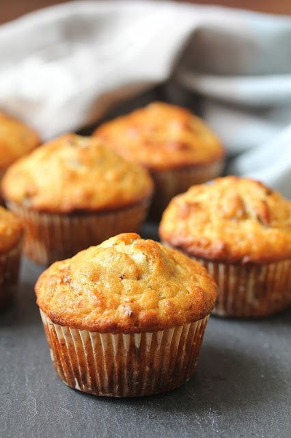 Bacon and Roquefort Cheese Muffins with Toasted Walnuts from Karen's Kitchen Stories