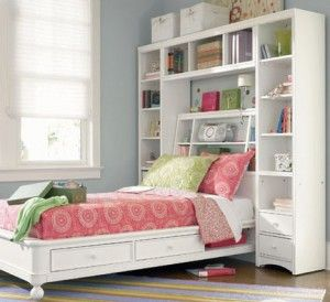 bookcase bed with drawers underneath for Phia's tiny room!